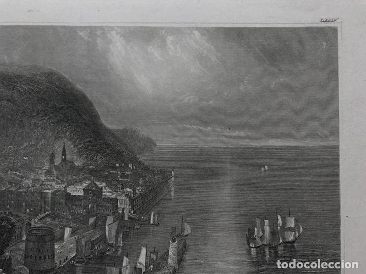Arte: Grabado antiguo siglo XIX Honfleur Normandia 1850 Hildburghausen - Hildburghausen - Foto 3 - 247974795