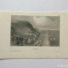 Arte: GRABADO ANTIGUO SIGLO XIX HONFLEUR NORMANDIA 1850 HILDBURGHAUSEN - HILDBURGHAUSEN. Lote 247974795