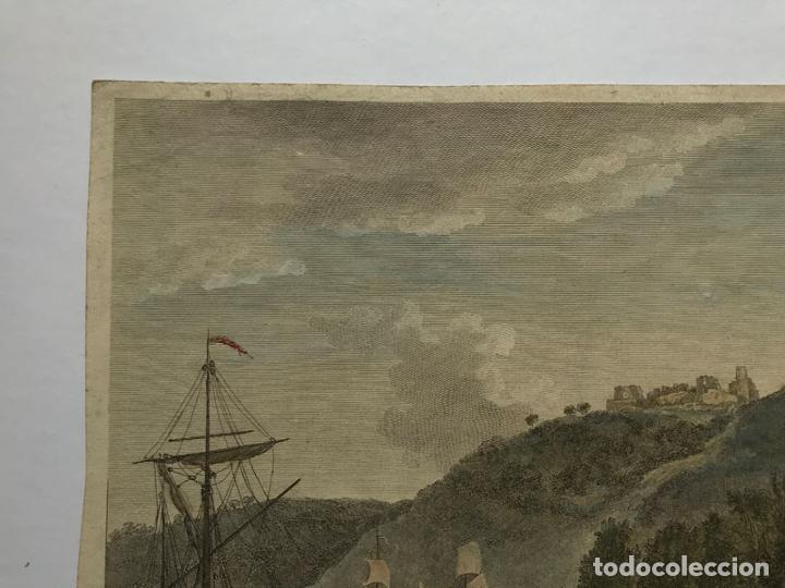 Arte: Grabado antiguo siglo XVIII Castillo Rouen Normandia 1706 Piequemont Carpantier - Piequemont Carpant - Foto 2 - 247974800