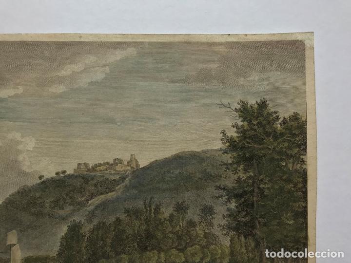 Arte: Grabado antiguo siglo XVIII Castillo Rouen Normandia 1706 Piequemont Carpantier - Piequemont Carpant - Foto 3 - 247974800