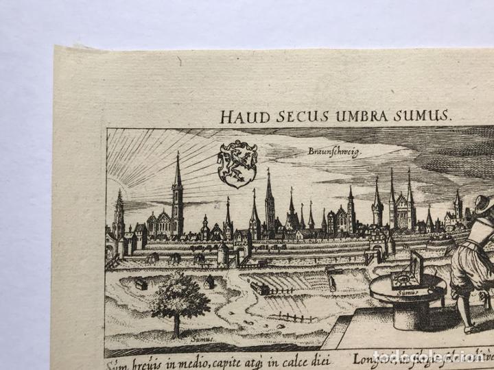 Arte: Grabado antiguo siglo XVII Baja Sajonia Alemania 1635 Braunschweig - Braunschweig - Foto 2 - 247974805