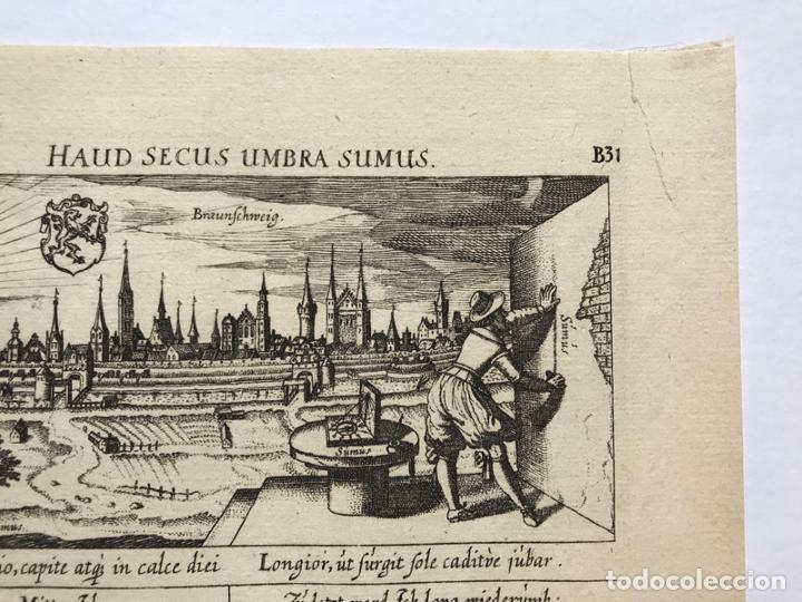 Arte: Grabado antiguo siglo XVII Baja Sajonia Alemania 1635 Braunschweig - Braunschweig - Foto 3 - 247974805