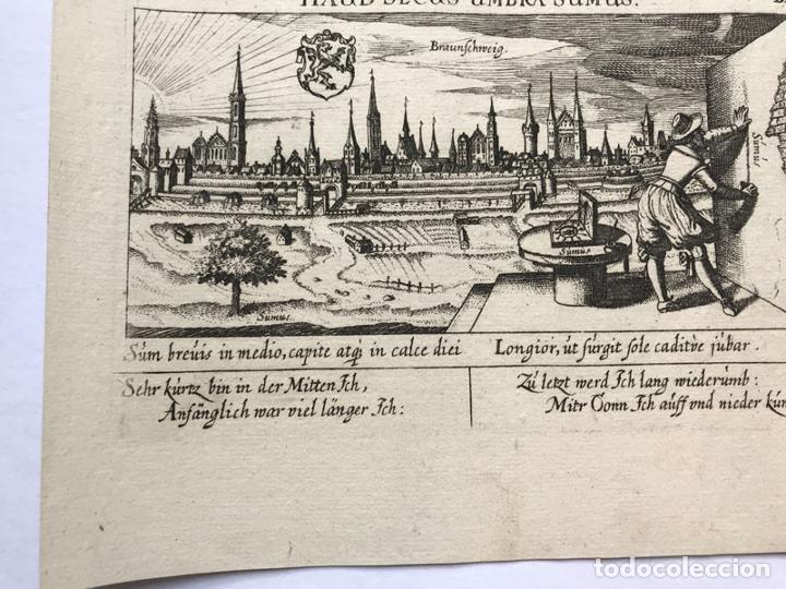 Arte: Grabado antiguo siglo XVII Baja Sajonia Alemania 1635 Braunschweig - Braunschweig - Foto 4 - 247974805