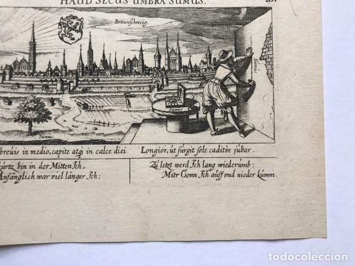Arte: Grabado antiguo siglo XVII Baja Sajonia Alemania 1635 Braunschweig - Braunschweig - Foto 5 - 247974805