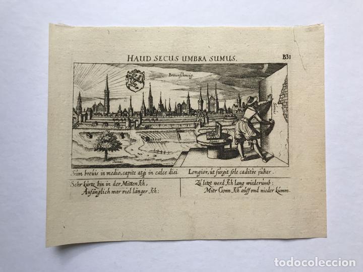 GRABADO ANTIGUO SIGLO XVII BAJA SAJONIA ALEMANIA 1635 BRAUNSCHWEIG - BRAUNSCHWEIG (Arte - Grabados - Antiguos hasta el siglo XVIII)