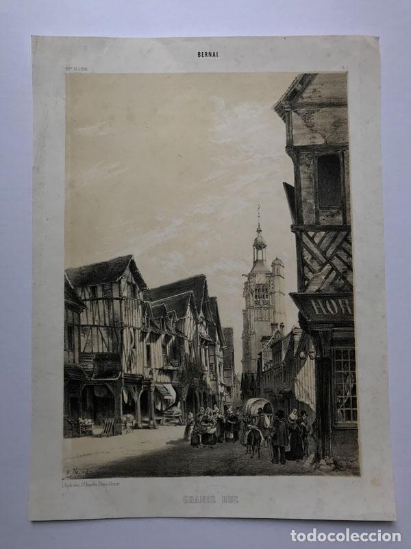 Arte: Grabado antiguo siglo XIX Bernay Normadia 1860 Deroy / Morier / Lemercier - Deroy / Morier / Lemerci - Foto 2 - 247974810