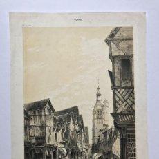 Arte: GRABADO ANTIGUO SIGLO XIX BERNAY NORMADIA 1860 DEROY / MORIER / LEMERCIER - DEROY / MORIER / LEMERCI. Lote 247974810