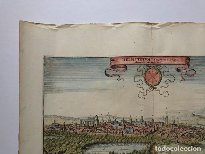 Arte: Grabado antiguo siglo XVII Helmstedt Alemania 1654 C. Merian - C. Merian - Foto 2 - 247974820