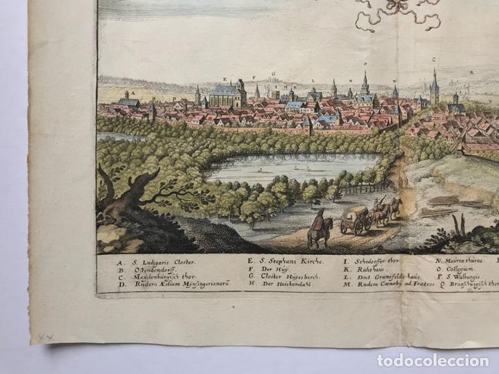 Arte: Grabado antiguo siglo XVII Helmstedt Alemania 1654 C. Merian - C. Merian - Foto 4 - 247974820