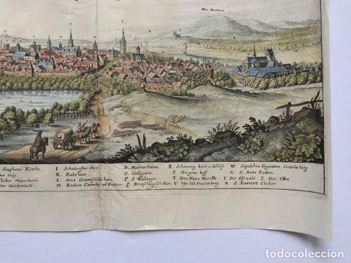 Arte: Grabado antiguo siglo XVII Helmstedt Alemania 1654 C. Merian - C. Merian - Foto 5 - 247974820