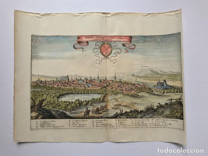 GRABADO ANTIGUO SIGLO XVII HELMSTEDT ALEMANIA 1654 C. MERIAN - C. MERIAN (Arte - Grabados - Antiguos hasta el siglo XVIII)