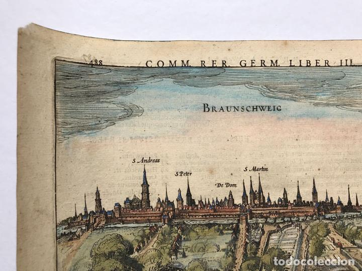 Arte: Grabado antiguo siglo XVII Baja Sajonia Alemania 1616 Petrus Bertius - Petrus Bertius - Foto 2 - 247974830