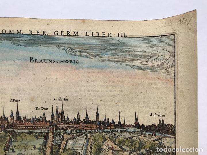 Arte: Grabado antiguo siglo XVII Baja Sajonia Alemania 1616 Petrus Bertius - Petrus Bertius - Foto 3 - 247974830