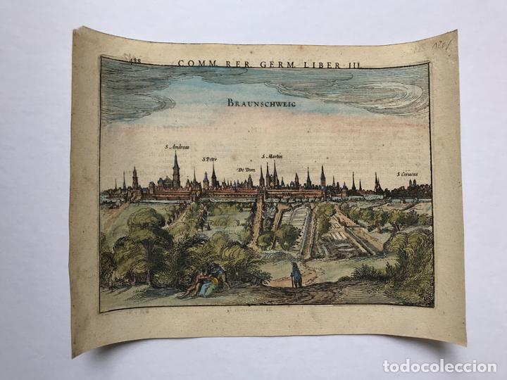 GRABADO ANTIGUO SIGLO XVII BAJA SAJONIA ALEMANIA 1616 PETRUS BERTIUS - PETRUS BERTIUS (Arte - Grabados - Antiguos hasta el siglo XVIII)