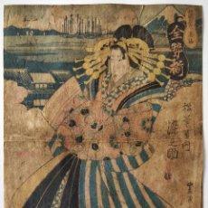 Arte: MAGISTRAL GRABADO JAPONÉS ORIGINAL, MAESTRO UTAGAWA TOYOKUNI 1769-1825, CIRCA 1790, RARO SIGLO XVIII. Lote 248023675