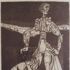 "Arte: ""TORERO Y DESNUDO"" AURELIO PÉREZ ( ALHAMA 1930- MURCIA 2000). Lote 248104250"