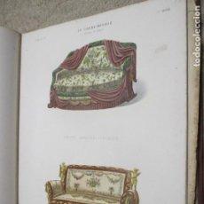 Arte: COLECCIÓN ENCUADERNADA DE GRABADOS COLOREADOS DE MUEBLES, LE GARDE-MEUBLE, CIRCA 1890. Lote 248427020