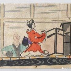 Arte: EXQUISITO GRABADO JAPONÉS ORIGINAL DE FINALES DEL SIGLO XIX, BONITA ESCENA, UKIYO-E, XILOGRAFÍA. Lote 248445195