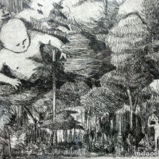 Arte: EXTRAÑO GRABADO ENMARCADO - FIRMA MARSÁ GONSALBEZ - NUMERADO - 4/23 - PERSONAJES - CURIOSA OBRA. Lote 248498335