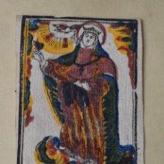 Arte: ANTIGUO GRABADO ESTAMPA DE SANTA TERESA DE JESUS ILUMINADO COLOREADO A MANO XVII O XVIII. Lote 249105525