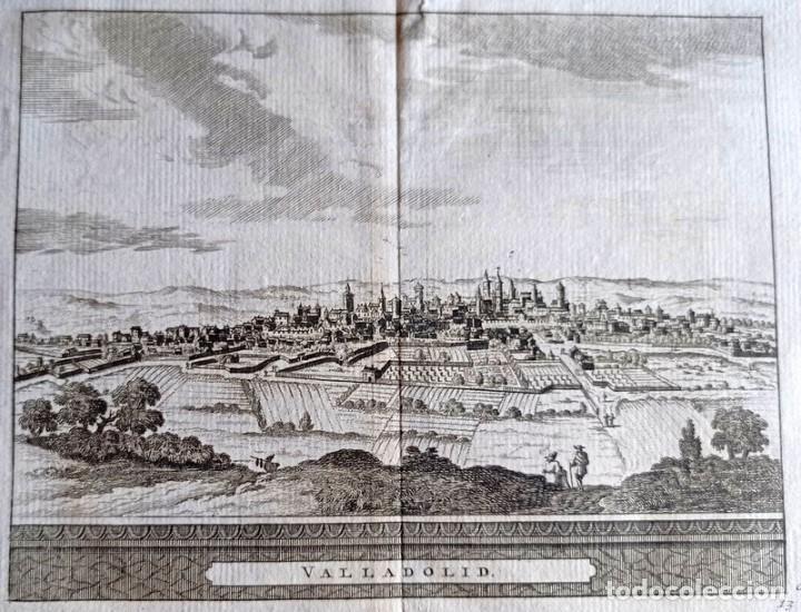 Arte: Grabado antiguo Valladolid con certificado de autenticidad 1707. Grabados antiguos Valladolid - Foto 2 - 86097088