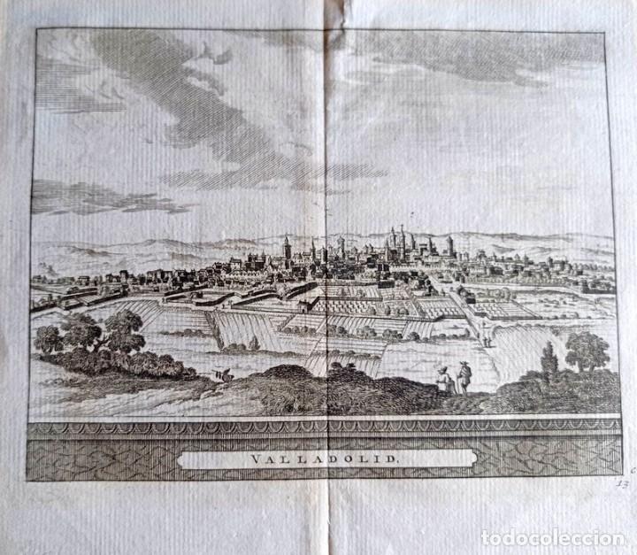 GRABADO ANTIGUO VALLADOLID CON CERTIFICADO DE AUTENTICIDAD 1707. GRABADOS ANTIGUOS VALLADOLID (Arte - Grabados - Antiguos hasta el siglo XVIII)