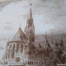 Arte: GRABADO FRANCÉS CATEDRAL SAGRADO CORAZON?. Lote 249178970