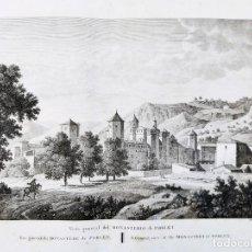 Arte: GRABADO AGUAFUERTE MONASTERIO DE POBLET. 1806. VOYAGE PITTORESQUE ALEXANDRE DE LABORDE. Lote 249406485