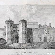 Arte: GRABADO AGUAFUERTE MONASTERIO DE POBLET. 1806. VOYAGE PITTORESQUE ALEXANDRE DE LABORDE. Lote 249407010