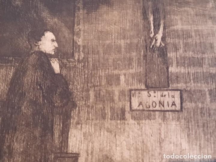 Arte: Cristo de la Agonía Ricardo Baroja Aguatinta Aguafuerte Calcografía nacional Planchas originales 70 - Foto 2 - 249457690