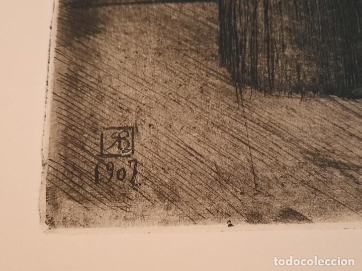 Arte: Cristo de la Agonía Ricardo Baroja Aguatinta Aguafuerte Calcografía nacional Planchas originales 70 - Foto 3 - 249457690