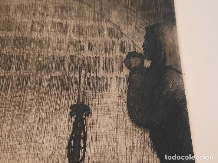 Arte: Cristo de la Agonía Ricardo Baroja Aguatinta Aguafuerte Calcografía nacional Planchas originales 70 - Foto 4 - 249457690