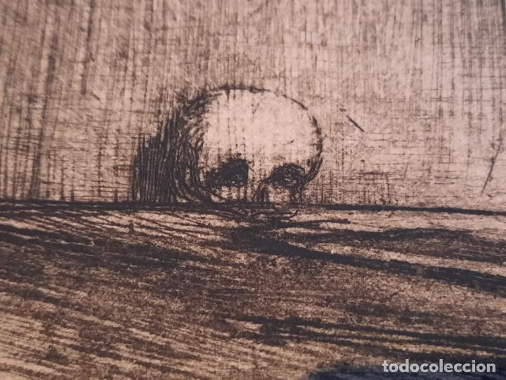 Arte: Cristo de la Agonía Ricardo Baroja Aguatinta Aguafuerte Calcografía nacional Planchas originales 70 - Foto 5 - 249457690
