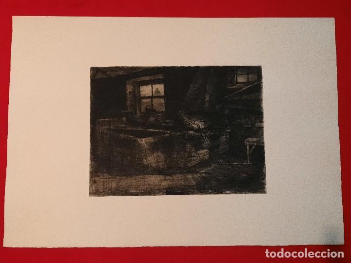 """""""FRAGUA""""GRABADO RICARDO BAROJA AGUATINTA AGUAFUERTE CALCOGRAFÍA NACIONAL PLANCHA ORIG 1896 ED1970,S (Arte - Grabados - Contemporáneos siglo XX)"""