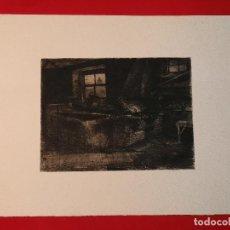 "Arte: ""FRAGUA""GRABADO RICARDO BAROJA AGUATINTA AGUAFUERTE CALCOGRAFÍA NACIONAL PLANCHA ORIG 1896 ED1970,S. Lote 249459990"