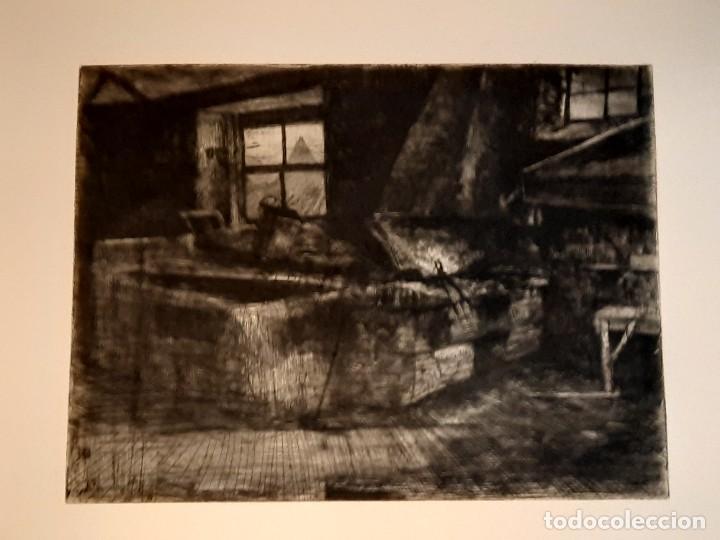 "Arte: ""FRAGUA""Grabado Ricardo Baroja Aguatinta Aguafuerte Calcografía nacional Plancha orig 1896 Ed1970,s - Foto 2 - 249459990"