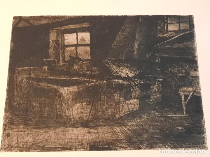 "Arte: ""FRAGUA""Grabado Ricardo Baroja Aguatinta Aguafuerte Calcografía nacional Plancha orig 1896 Ed1970,s - Foto 5 - 249459990"