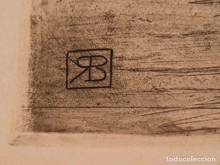 Arte: LA ERMITA O ENTRANDO EN LA IGLESIA Grabado Ricardo Baroja Aguatinta Aguafuerte Calcografía Nacional - Foto 6 - 249465850