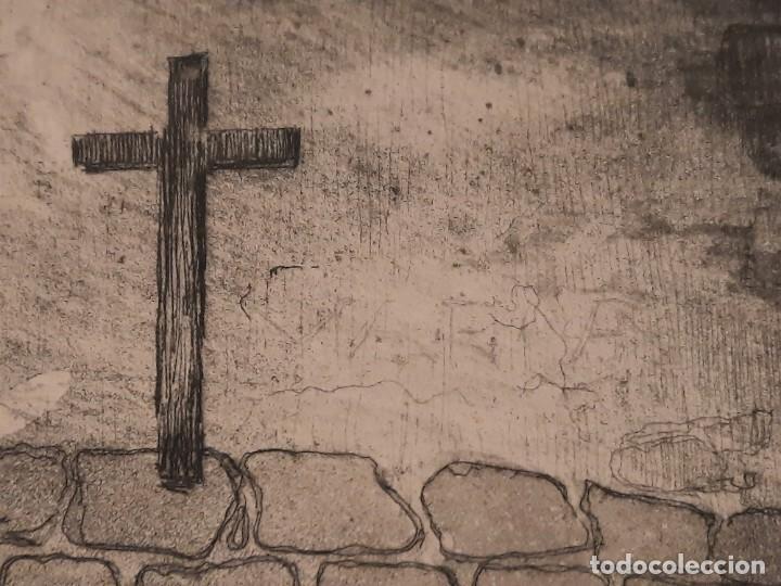 Arte: LA ERMITA O ENTRANDO EN LA IGLESIA Grabado Ricardo Baroja Aguatinta Aguafuerte Calcografía Nacional - Foto 7 - 249465850