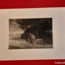 Arte: DESCANSO EN EL CAMINO GRABADO RICARDO BAROJA AGUATINTA AGUAFUERTE CALCOGRAFÍA NACIONAL 1908 ED 70,S. Lote 249467695