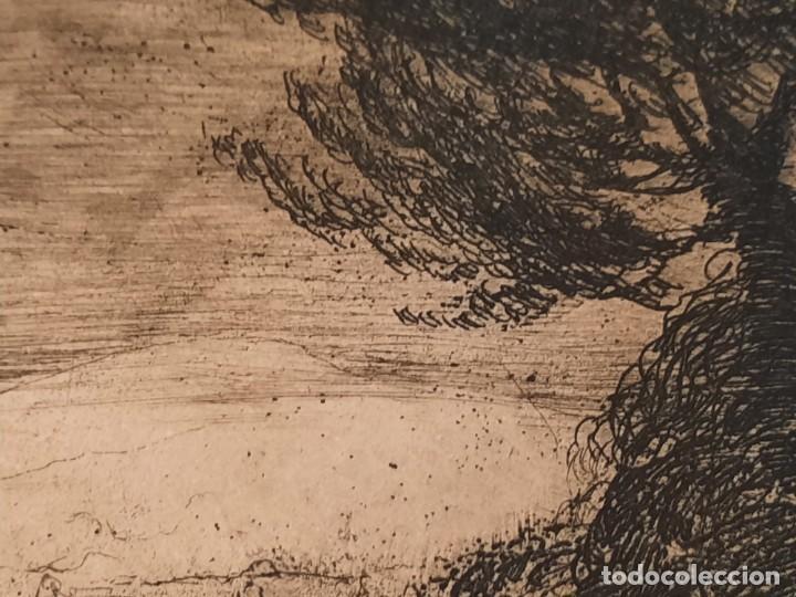 Arte: DESCANSO EN EL CAMINO Grabado Ricardo Baroja Aguatinta Aguafuerte Calcografía Nacional 1908 ED 70,S - Foto 5 - 249467695