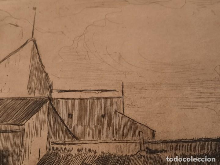 Arte: RINCON MADRILEÑO O EL SUBURBIO Grabado Ricardo Baroja Aguatinta Aguafuerte Calcografía Nacional - Foto 4 - 249470650