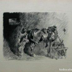 Arte: RICARD ARENYS GRABADO SOBRE PAPEL 64 X 50 CM.. Lote 249551410