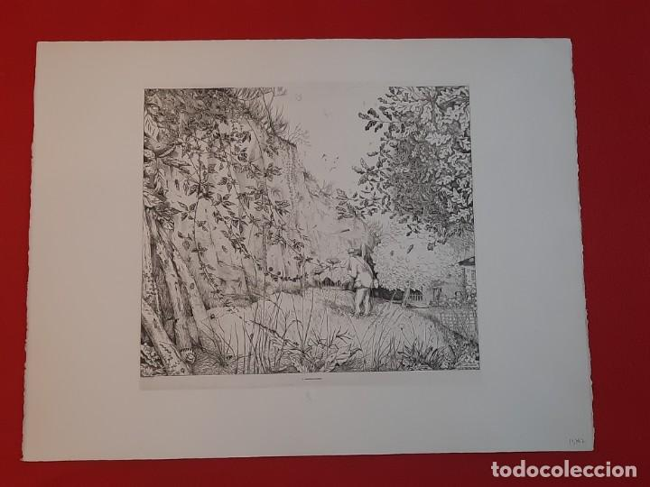GRABADO CALCOGRAFÍA JEAN EMILE LABOUREUR L'ENTOMOLOGISTE EL ENTOMÓLOGO EDICIÓN LOUVRE (Arte - Grabados - Contemporáneos siglo XX)