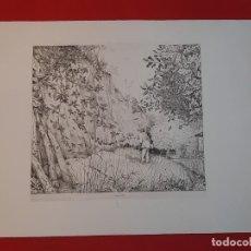 Arte: GRABADO CALCOGRAFÍA JEAN EMILE LABOUREUR L'ENTOMOLOGISTE EL ENTOMÓLOGO EDICIÓN LOUVRE. Lote 250145125