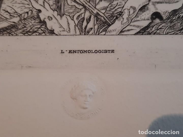 Arte: Grabado Calcografía Jean Emile Laboureur l'entomologiste El Entomólogo Edición Louvre - Foto 2 - 250145125