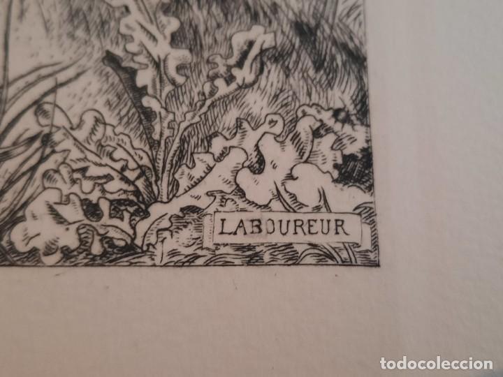 Arte: Grabado Calcografía Jean Emile Laboureur l'entomologiste El Entomólogo Edición Louvre - Foto 3 - 250145125