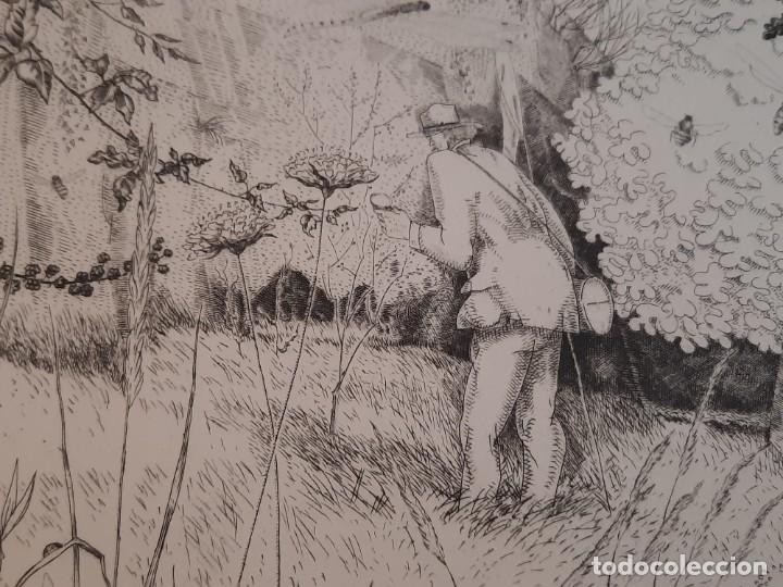 Arte: Grabado Calcografía Jean Emile Laboureur l'entomologiste El Entomólogo Edición Louvre - Foto 4 - 250145125