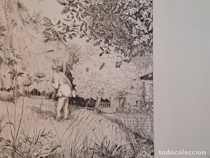 Arte: Grabado Calcografía Jean Emile Laboureur l'entomologiste El Entomólogo Edición Louvre - Foto 7 - 250145125