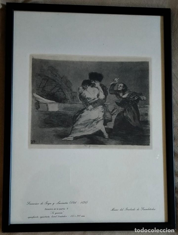 GRABADO / * DESASTRES DE LA GUERRA-9 (NO QUIEREN) *. F. DE GOYA. MUSEO DEL GRABADO DE FUENDETODOS. (Arte - Grabados - Modernos siglo XIX)